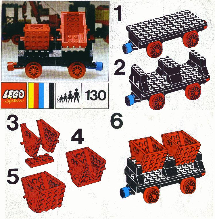 Instructions For 130 1 Wagon With Double Tippers Bricksgz