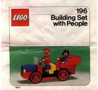 View Instructions For 196-1 - LEGO Building Set with People {Antique Car}