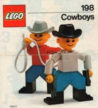 View Instructions For 198-1 - LEGO Building Set with People / Cowboys