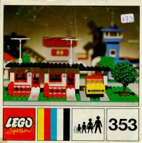 View Instructions For 353-1 - LEGOLAND Terrace House with Car and Garage