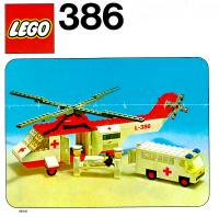 View Instructions For 386-1 - Red Cross Helicopter and Ambulance