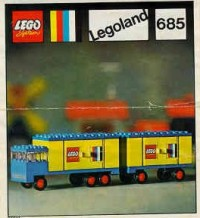 View Instructions For 685-1 - Legoland Truck with Trailer