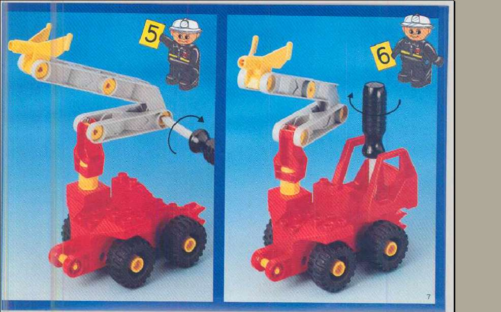 lego duplo fire engine instructions