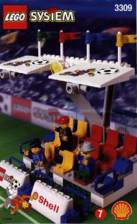 View Instructions For 3309-1 - SHELL Promotional Set: Soccer: Head Tribune