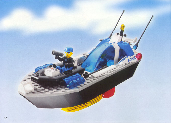 lego police boat instructions
