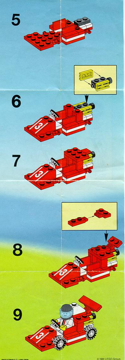 Instructions For 6509 1 Red Racer Bricksgz