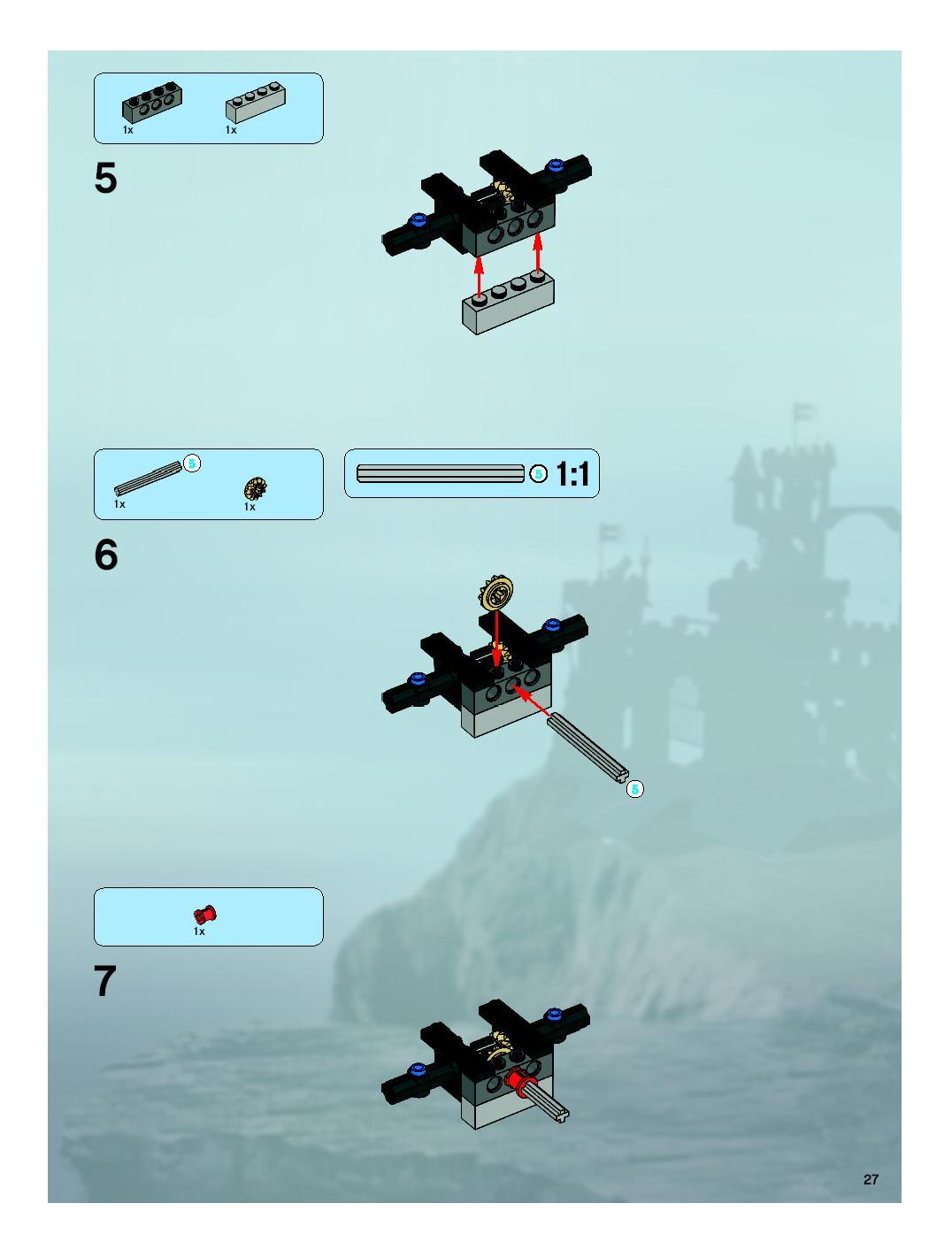Vgigjtszs 7079 Drawbridge Defense Kockagyr Lego Blog A Felvonhd Mechanik Is Ebben Rszben Pl Meg