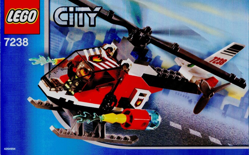 Instructions For 7238 1 Fire Helicopter Bricksgz