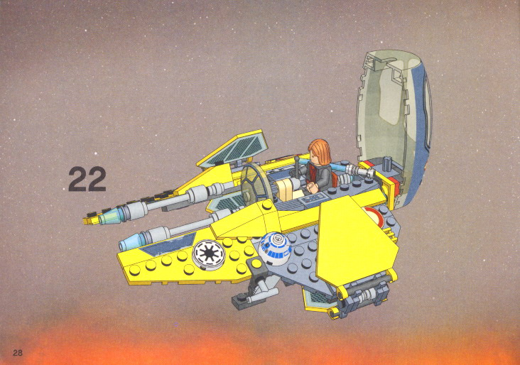 Lego Star Wars Vulture Droid Bomber Instructions