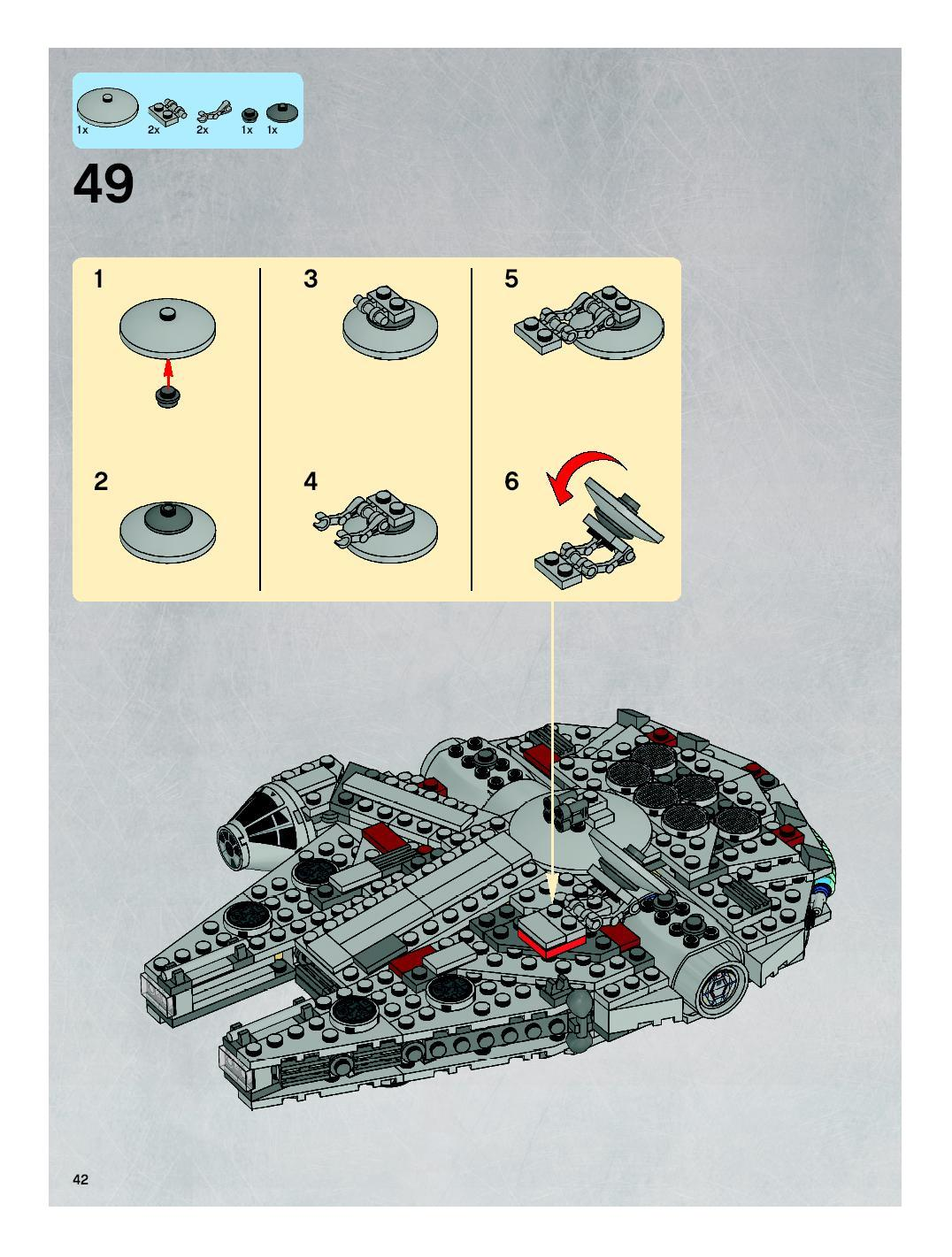 millennium falcon lego instructions 7778