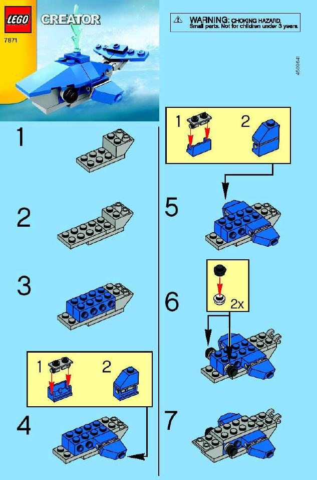 Instructions For 7871 1 Whale Bricksgz