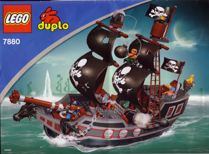 Instructions For 7880 1 Duplo Big Pirate Ship Bricksgz