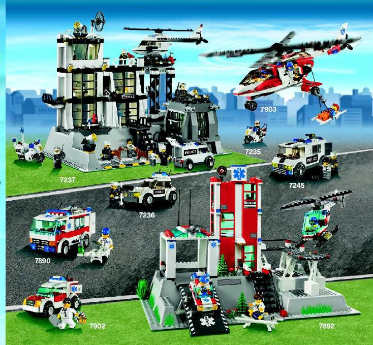 Lego City Fire Station 7945 Instructions