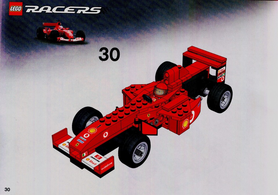 instructions for 8362 1 ferrari f1 racer 1 24 scale. Black Bedroom Furniture Sets. Home Design Ideas