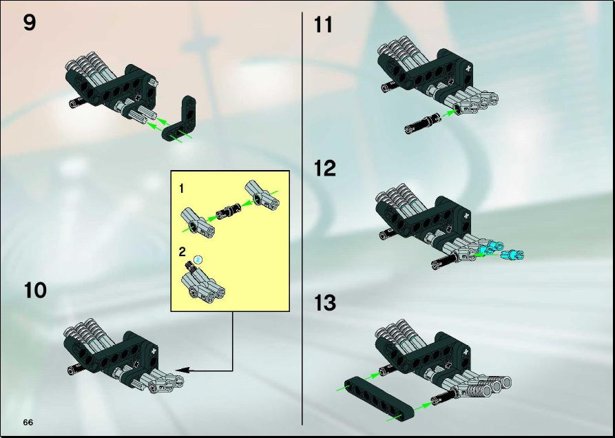 lego technic pull back instructions