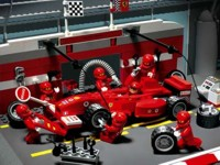 View Instructions For 8375-1 - Ferrari F1 Pit Set