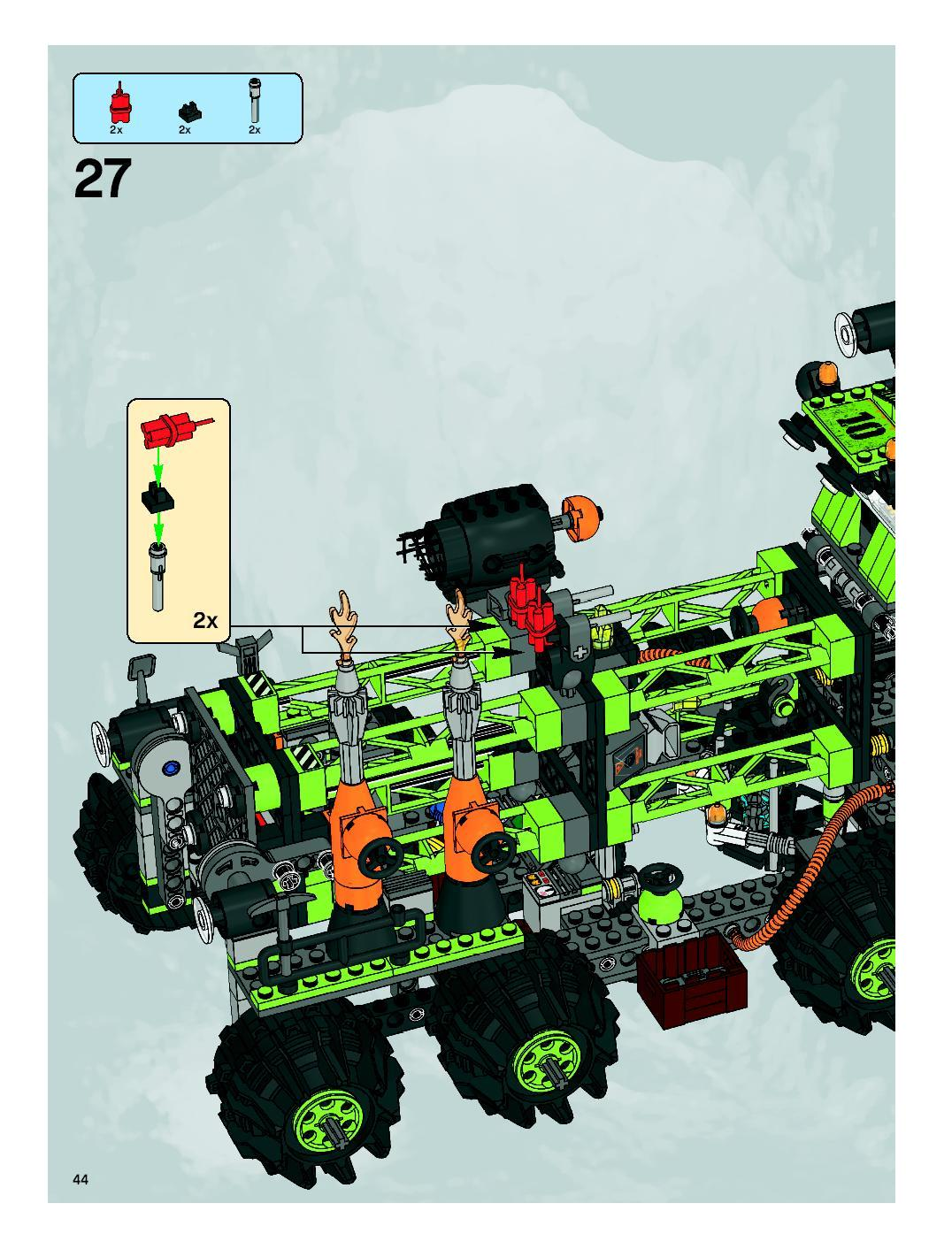 lego power miners titanium command rig instructions