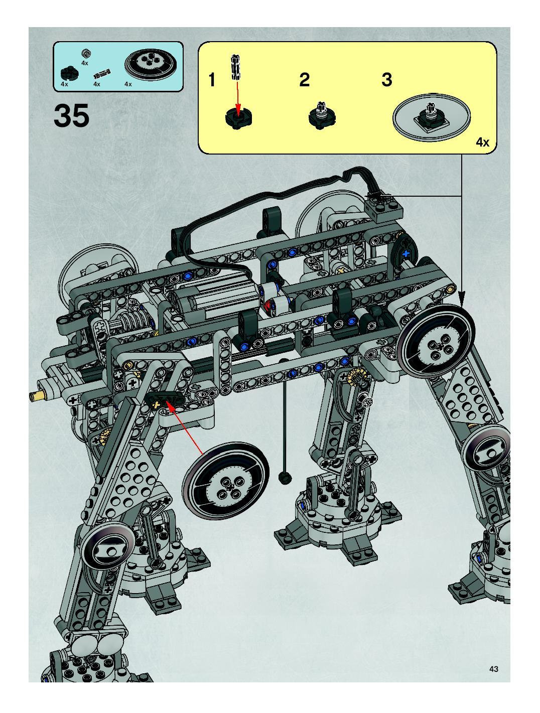 Motorized Walking At At Lego 10178 Instructions