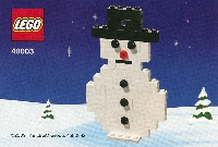 View Instructions For 40003-1 - Snowman
