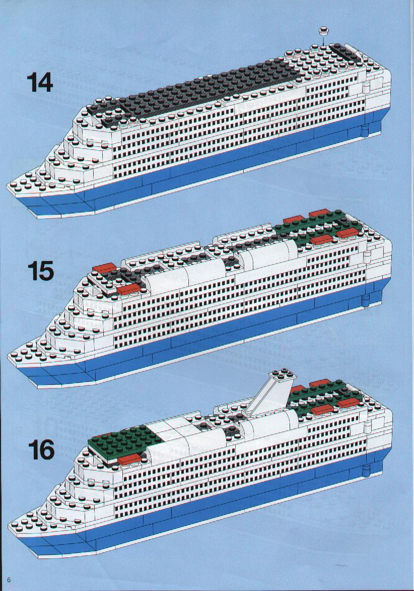 Instructions For 1955 1 Color Line Promotional Set Cruise Ship