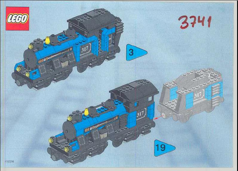 Instructions For 3741 1 My Own Train Large Engine Bricksgz