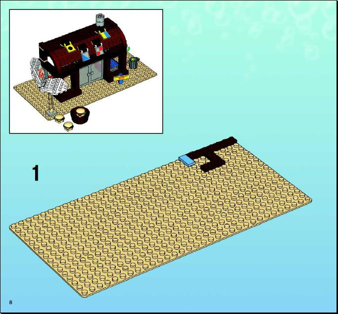 Instructions For 3825 1 The Krusty Krab Bricksgz