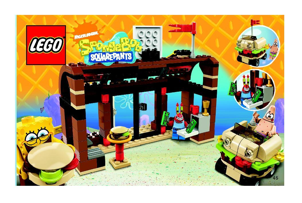 Instructions For 3833 1 Krusty Krab Adventures Bricksgz