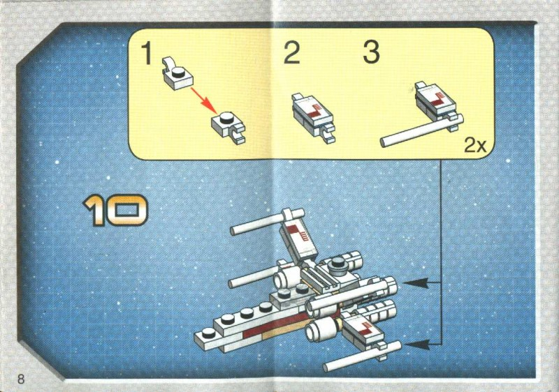 Instructions For 4484 1 Mini X Wing Fighter Tie Advanced