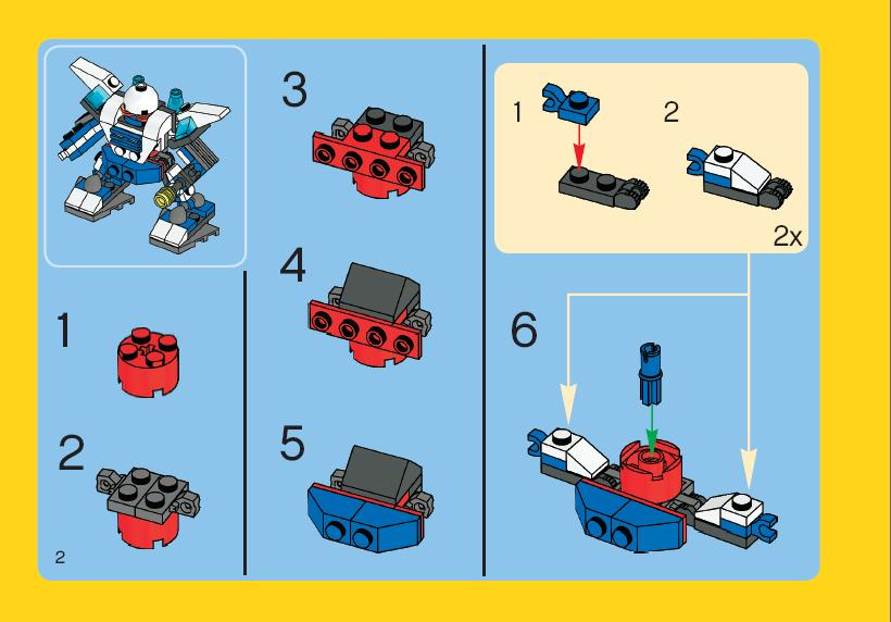 Instructions For 4917 1 Mini Robots Bricksgz