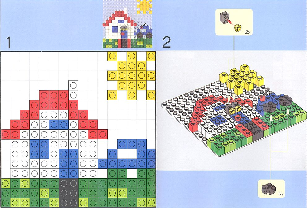 Instructions For 6162 1 Building Fun With Lego Mosaic