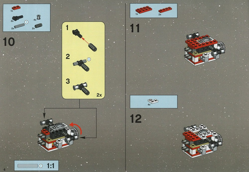 Instructions for 6212-1 - X-wing Fighter | bricks argz com