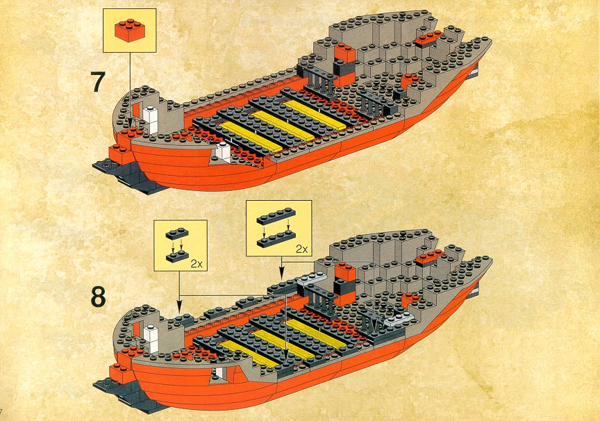 Instructions For 6290 1 Pirate Battle Shipred Beard Runner