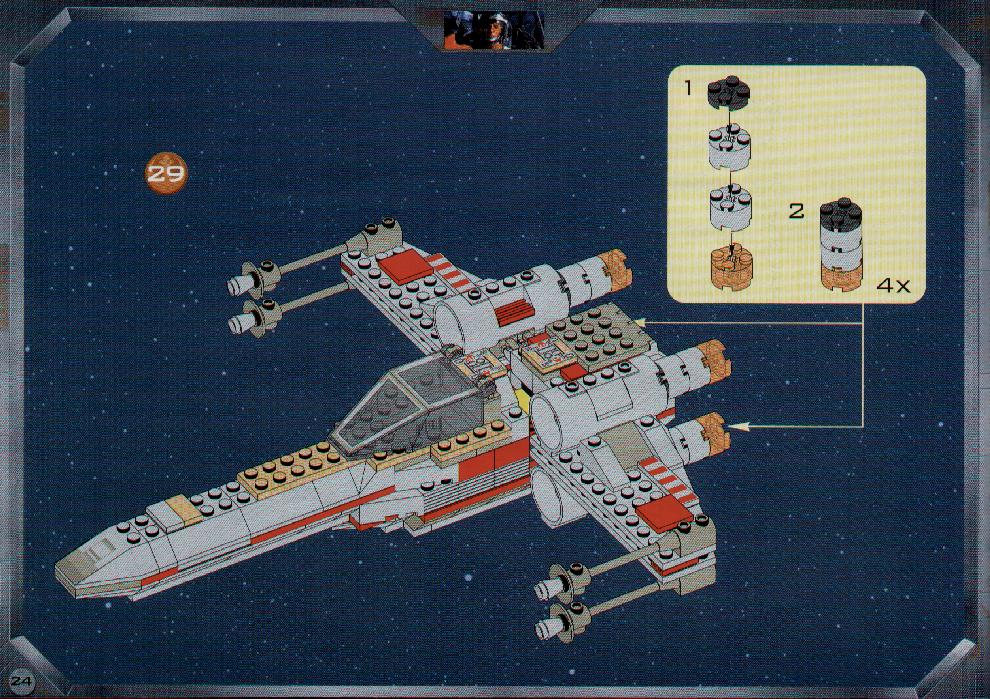 Instructions For 7140 1 X Wing Fighter Bricksgz