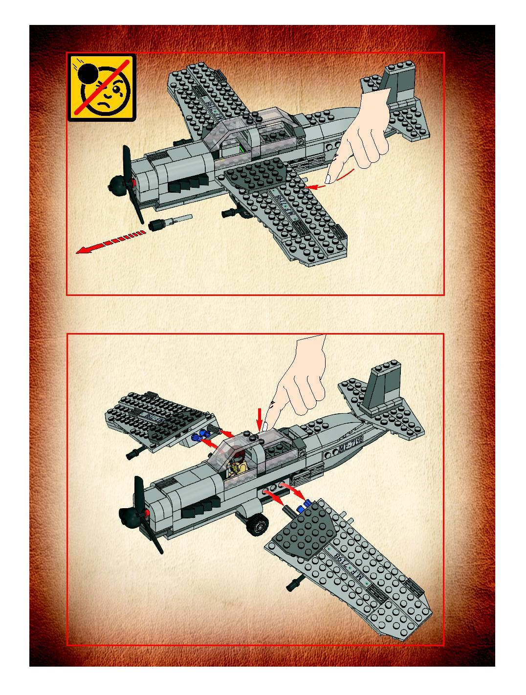 LEGO 7198 Fighter Plane Attack Indiana Jones STICKER SHEET