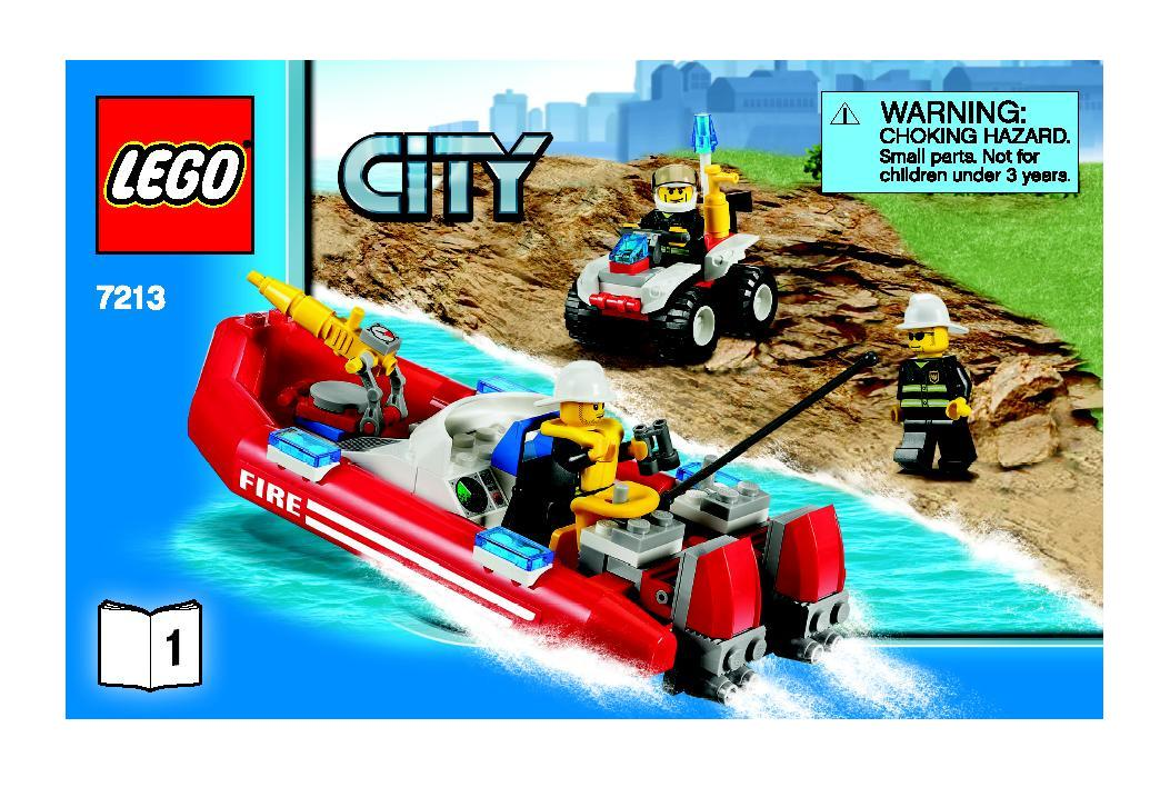 Instructions For 7213 1 Off Road Fire Truck And Fireboat Bricks