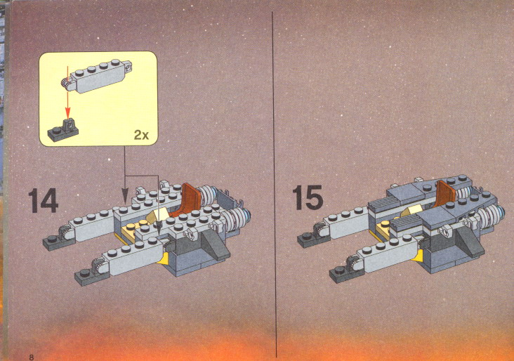 Instructions For 7256 1 Jedi Starfighter And Vulture Droid