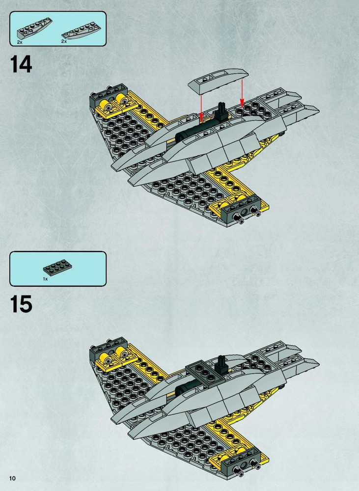 Instructions For 7660 1 Naboo N 1 Starfighter And Vulture Droid
