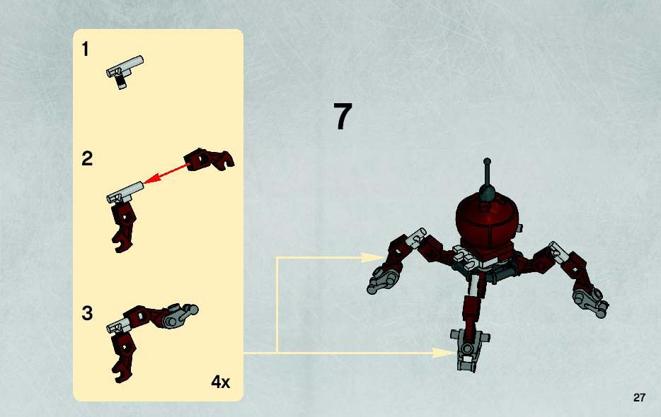 Instructions For 7670 1 Hailfire Droid And Spider Droid Bricks