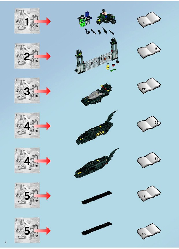 Instructions For 7787 1 The Bat Tank The Riddler And Banes