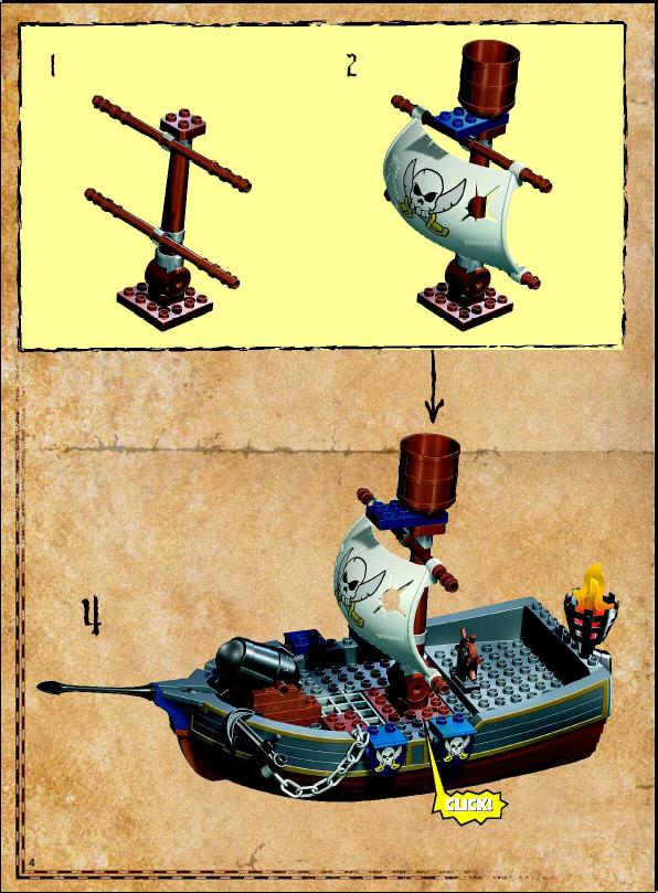 Instructions For 7881 1 Duplo Pirate Ship Bricksgz