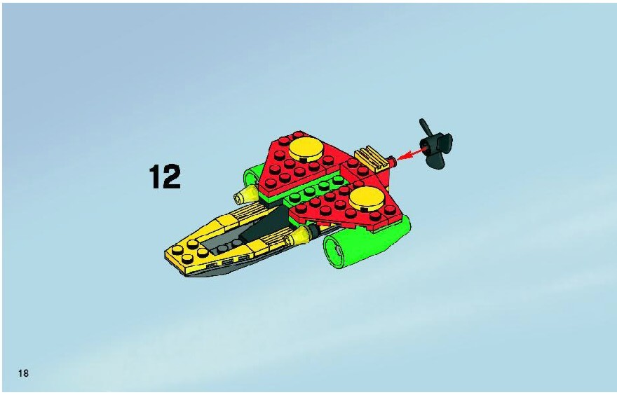 Instructions For 7885 1 Robins Scuba Jet Attack Of The Penguin