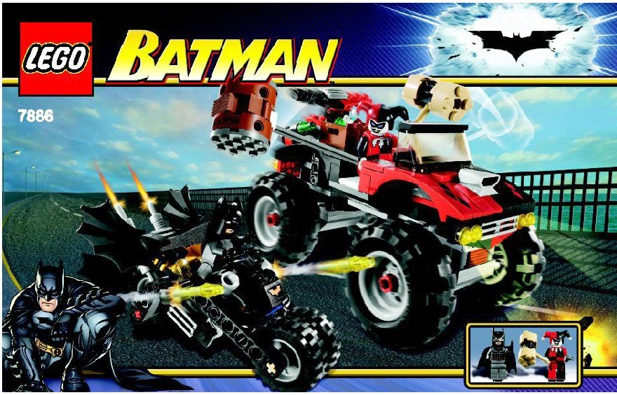 Instructions For 7886 1 The Batcycle Harley Quinns Hammer Truck