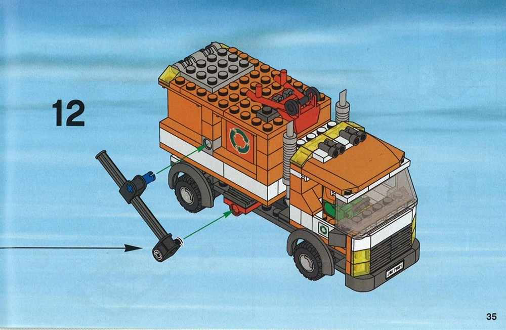 Instructions For 7991 1 Garbage Truck Bricksgz
