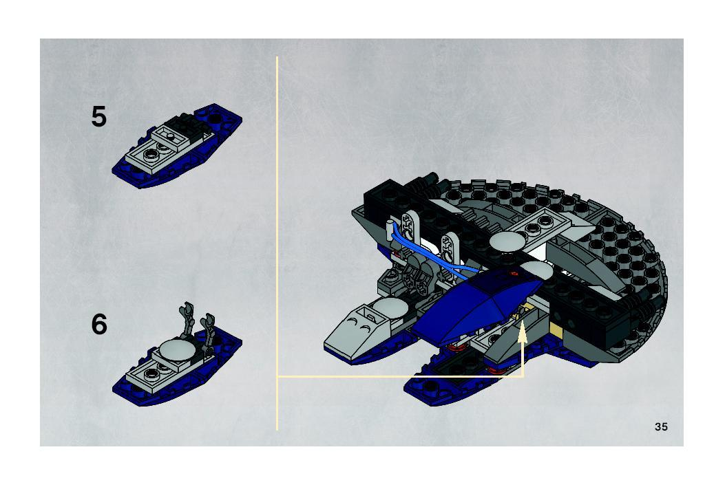 Instructions For 8016 1 Hyena Droid Bomber Bricksargzcom