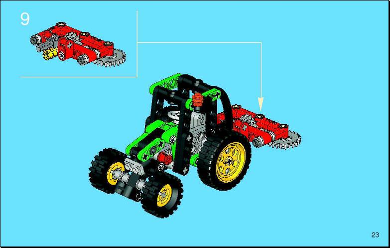 Instructions For 8281 1 Mini Tractor Bricksgz