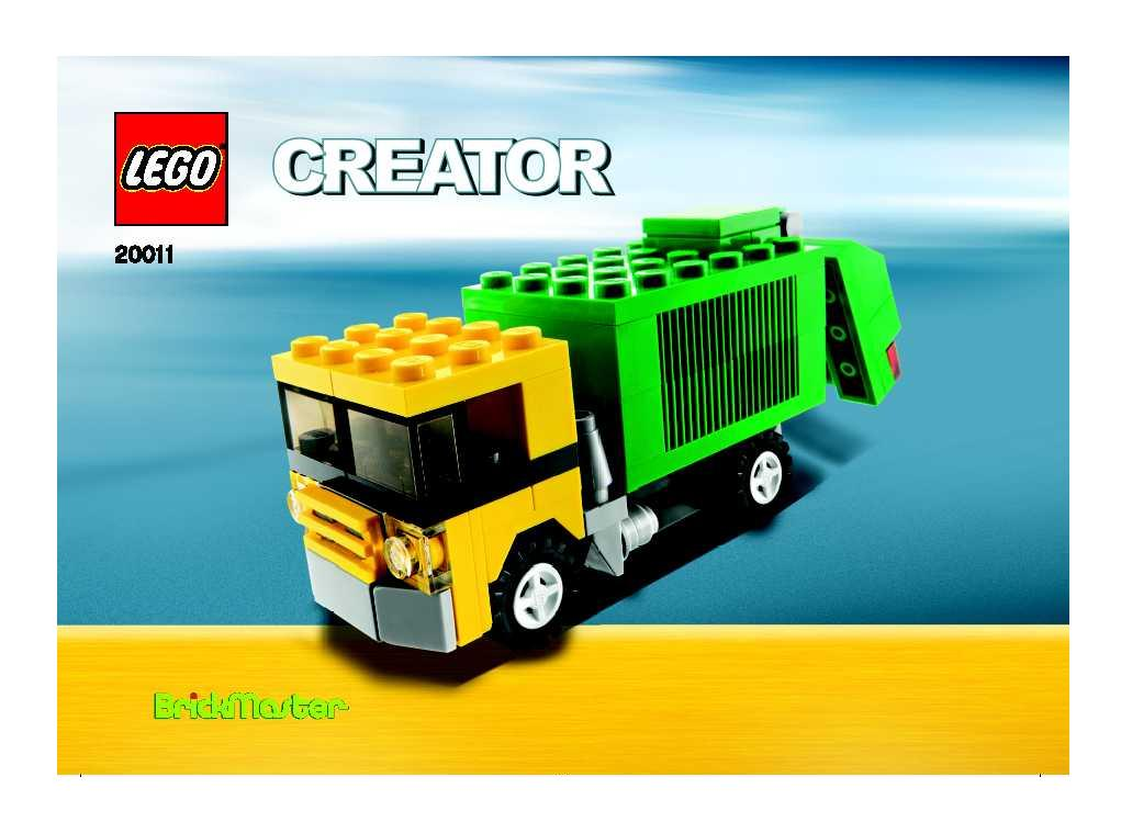 Instructions For 20011 1 Garbage Truck Bricksgz
