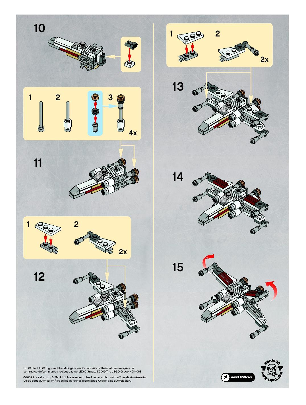 instructions for 30051 1 x wing fighter bricks argz com rh bricks argz com Star Wars Legos Full Manuals LEGO Star Wars That Is Able to Fire Red Tank Sticks