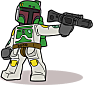 Super cool Boba Fett illustration courtesy of Mike Crowley (http://www.countblockula.com)